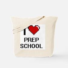 I Love Prep School Digital Design Tote Bag
