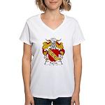 Farres Family Crest Women's V-Neck T-Shirt