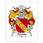 Farres Family Crest Small Poster