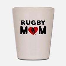 Rugby Mom Shot Glass