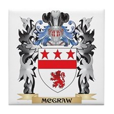 Mcgraw Coat of Arms - Family Crest Tile Coaster
