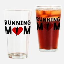 Running Mom Drinking Glass
