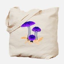 Purple Mushrooms Tote Bag