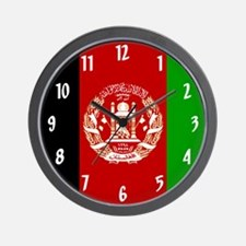 Flag of Afghanistan Wall Clock
