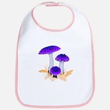 Purple Mushrooms Bib