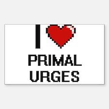 I Love Primal Urges Digital Design Decal