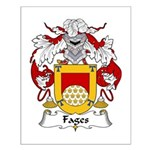 Fages Family Crest Small Poster