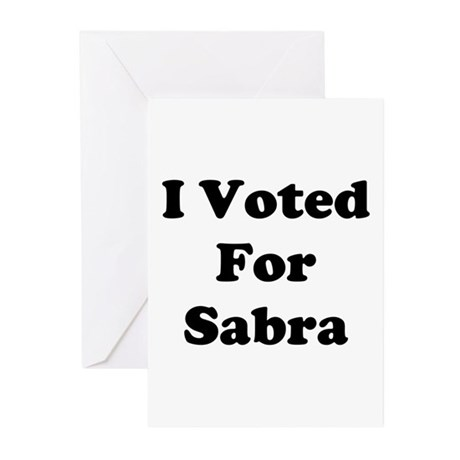 Voted for Sabra Greeting Cards (Pk of 10)