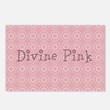 Chic Divine Pink Postcards (Package of 8)