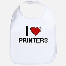 I Love Printers Digital Design Bib