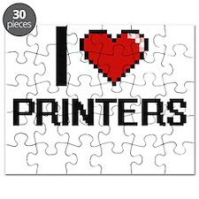 I Love Printers Digital Design Puzzle