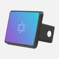 Teal Purple Star of David Hitch Cover