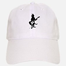 Cat Playing The Electric Guitar Baseball Baseball Baseball Cap