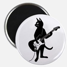 Cat Playing The Electric Guitar Magnets