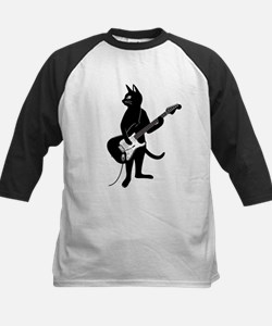 Cat Playing The Electric Guitar Baseball Jersey