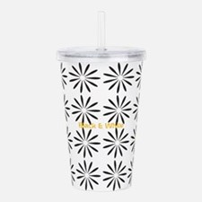 Cool Abstract Flower Acrylic Double-wall Tumbler