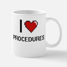 I Love Procedures Digital Design Mugs