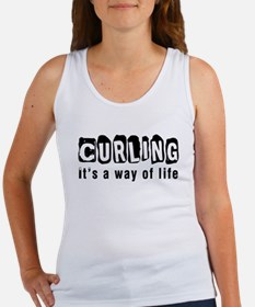 Curling it is a way of life Women's Tank Top