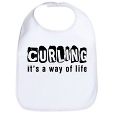Curling it is a way of life Bib