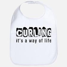 Curling it is a way of life Bib