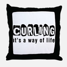 Curling it is a way of life Throw Pillow