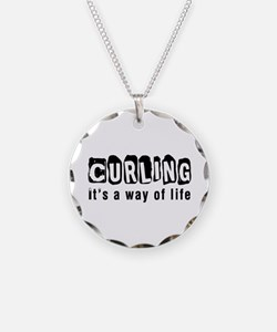 Curling it is a way of life Necklace