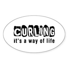 Curling it is a way of life Decal