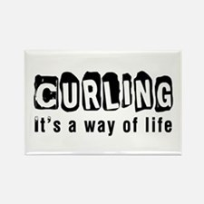 Curling it is a way of life Rectangle Magnet