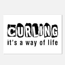 Curling it is a way of li Postcards (Package of 8)