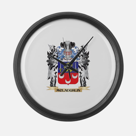 Mclaughlin Coat of Arms - Family Large Wall Clock