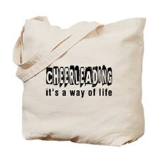 Cheerleading it is a way of life Tote Bag