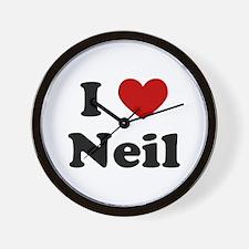 I Heart Neil Wall Clock