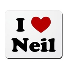I Heart Neil Mousepad