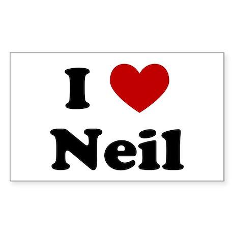 I Heart Neil Rectangle Sticker