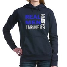 Real Men Marry Farmers Women's Hooded Sweatshirt
