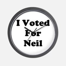Voted For Neil Wall Clock