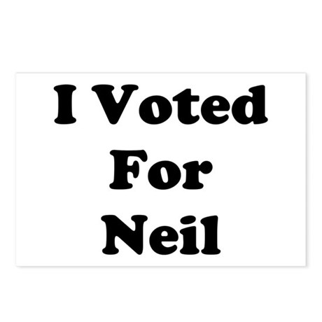 Voted For Neil Postcards (Package of 8)