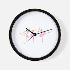 THREE BALLERINAS Wall Clock