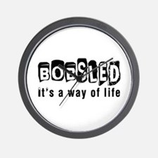 Bobsled it is a way of life Wall Clock