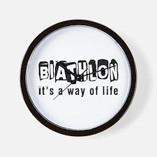 Biathlon it is a way of life Wall Clock