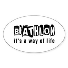 Biathlon it is a way of life Decal