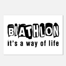 Biathlon it is a way of l Postcards (Package of 8)