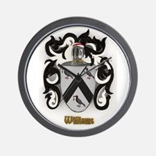 Williams Family Crest Wall Clock