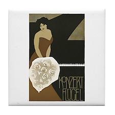 Concert Pianist Tile Coaster