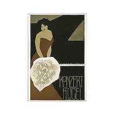 Concert Pianist Rectangle Magnet