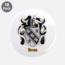 "Brown Family Crest 3.5"" Button (10 pack)"