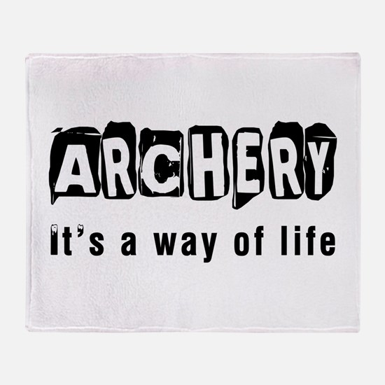 Archery it is a way of life Throw Blanket