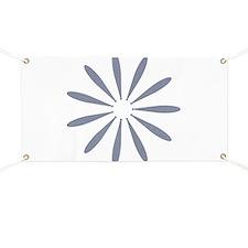 Pastel Blue Silk Flower Banner