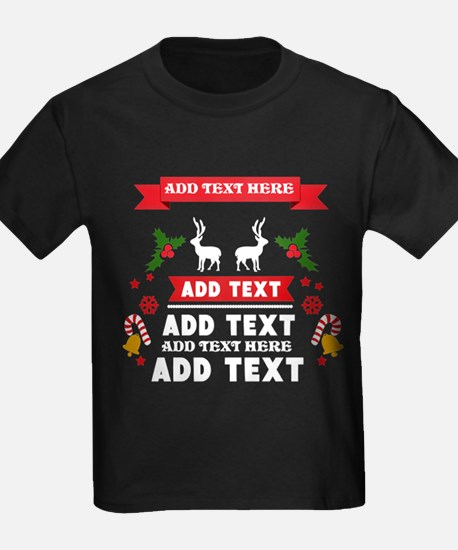 personalized add Text Christmas T