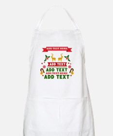 personalized add Text Christmas Apron